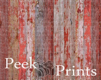 6ft.x6ft. Red Barn Wood Vinyl Backdrop WOOD FLOORDROP