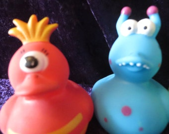 Monster rubber ducks - they are so scary!