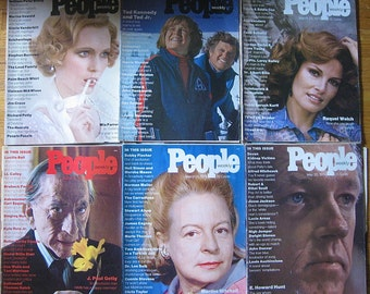 First People Magazine Issue/ Mia Farrow/ 13 People Magazines From 1974