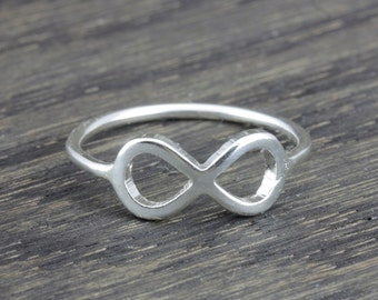 sterling silver Infinity ring wire work in shiny and matte finish
