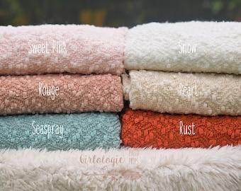 Popcorn Backdrop Blanket  * Pebble Knit Posing Fabric * Newborn Posing Blanket * Beanbag Posing Fabric  * Photo Prop * Backdrop Fabric *