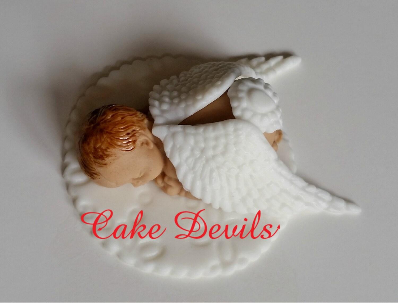 Angel Sleeping Baby Cake Topper Angel Baby Shower Naked