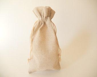 "12 - Natural Linen Pouches/Bags, 4""x6"""