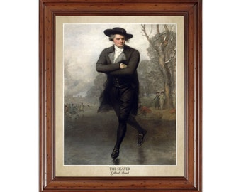 The Skater by Gilbert Stuart; 16x20 print showing the artist's name and title of painting