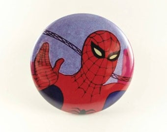 "2.25"" Spiderman button or magnet"