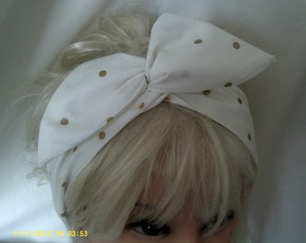Wide  Wire Headband made in Lovely Michial Miller Fabric
