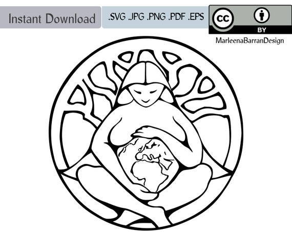 Mother earth goddess pacha mama gaia line art vector clipart download creative commons from - Mother earth clipart ...