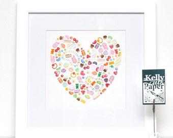 Sweetheart digital papercut template