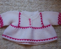 knitted baby clothes / crochet baby clothes/ handmade / vintage baby clothes / made with love 9-12 months