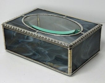 Stained Glass KEEPSAKE~JEWELRY Box Hand Crafted by Me Using The Traditional Tiffany Methoud of Copper Foil & Solder