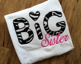 Big Sister Shirt, Matching Sister Shirts, Purple Sister Shirt, Older Sister Shirt, Pregnancy reveal shirt