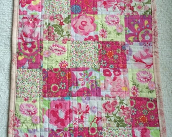 Floral Spring Colours Doll Quilt
