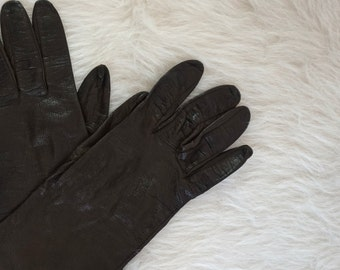 Vintage Brown Leather Gloves// Women's Vintage// Driving Gloves// Vintage Gloves// Leather Gloves// Vintage Accessories
