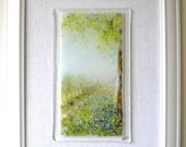 Misty Morning - Painting with frit and fused glass in the impressionist style