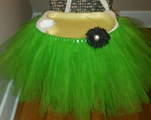 Highchair tutu skirt, tutu skirt, chair skirt, first birthday, tutu, high chair tutu, cake smash, green, tulle,green chair tutu,Irish tutu