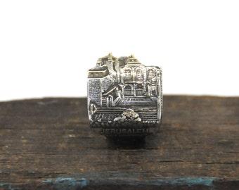 jerusalem ring,  spoon ring,  israel ring, holy sepulchre ring