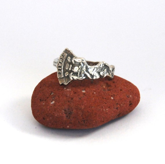 drummer ring spoon ring jamaica ring carribean by
