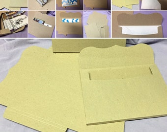 Recycled Chipboard 3D Envelope (10)