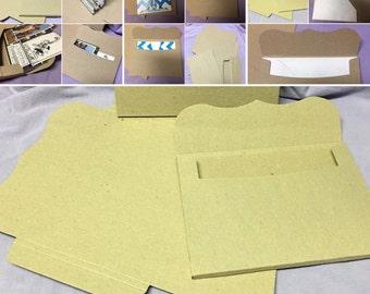 Recycled Chipboard 3D Creased Envelope DIY