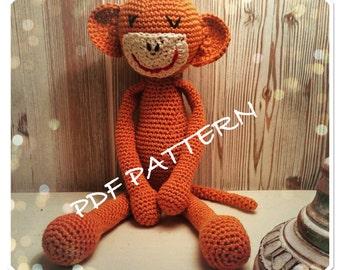 PDF Pattern Amigurumi toys Monkey, crochet amigurumi, instant download tutorial, monkey doll, amigurumi monkey, crochet amigurumi, handmade,