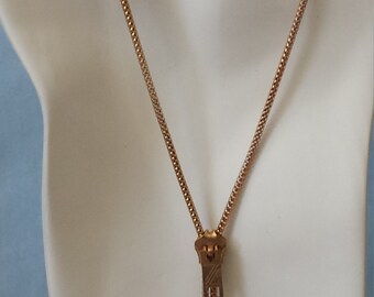 Vintage Zipper Lariat - Brass Plated Zipper Necklace - Vintage Necklace - Zipper Necklace - Vintage Lariat Necklace - Boho Chic Necklace