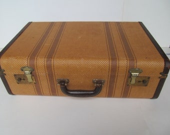 Vintage  Travel Case - Luggage -Overnight Case -Shelf Sitter - Home Decoratio-