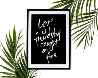 Love Printable Typography Poster Inspirational Print Home Decor Wall Art Printable