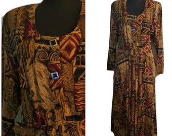 Vintage Anthony Mark Hankins Tribal Print Frock