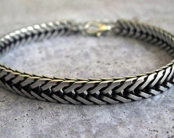 Men's Silver Bracelets - Mens Bracelet - Mens Jewelry - Jewelry For Men - Bracelets For Men - Gift for Him - Men's Gifts