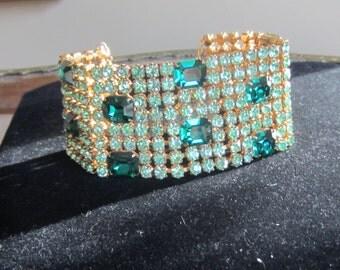 Rhinstone Cuff Bracelet