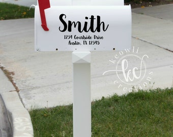Name and Address Mailbox Decal-six styles