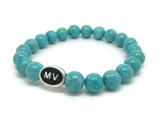 Martha's Vineyard Bracelet, MV, Martha's Vineyard Jewelry, Marthas Vineyard Gift, Martha's Vineyard, Turquoise Riverstone
