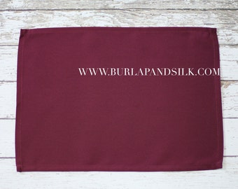 Burgundy Placemat | Burgundy Linen Placemats, Burgundy Fabric Placemats for Weddings, Hotels, Catering Events and Restaurants