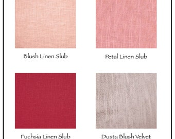 Pink Fabric Swatch and Nailhead Sample Pack