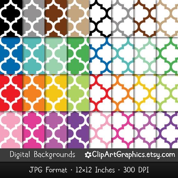 Moroccan Trellis Wallpaper: Seamless Moroccan Tile Digital Paper Trellis By