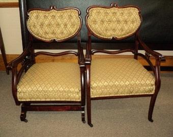 Two PIece Parlor Set, Platform Rocker & Arm Chair, CLEARANCE SALE!