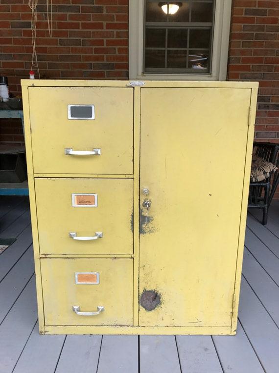 Charming Vintage Vintage Cole Steel Metal File Cabinet Combination