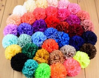 Chiffon Flowers,Headband Supplies, Diy Baby Headband,Fabric Flowers H10014