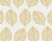 Mustard Leaves - Whisper by Windham Fabrics Cotton Fabric Fat Quarter