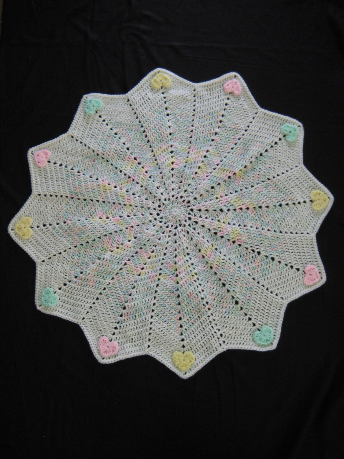 Crochet pattern round ripple star baby blanket afghan ripple this is a digital file bankloansurffo Images