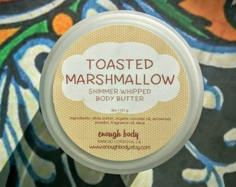 Toasted Marshmallow Shimmer Whipped Body Butter ~ Shea Body Butter ~ Body Lotion ~ Body Cream