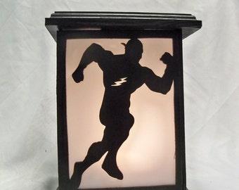 The Flash wooden lantern