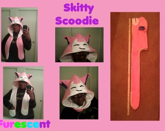 SKITTY Scoodie scarf hoodie from POKEMON