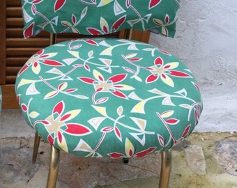 Chair printed modernist Chair vintage