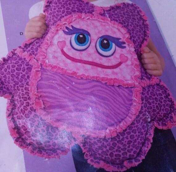Smiley Monster Pillow