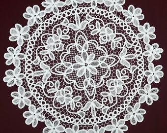 Vintage white lace doily