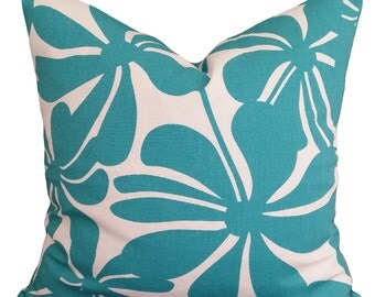 Twirly True Turquoise Designer Cushion Pillow Cover 45 x 45cm FREE POSTAGE Australia Wide