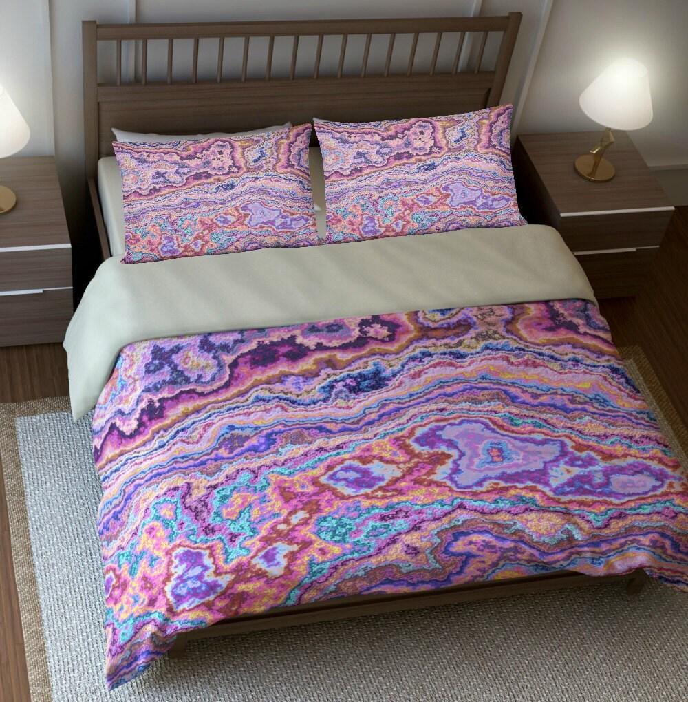 bohemian boho bedding duvet cover set pillow by folkandfunky. Black Bedroom Furniture Sets. Home Design Ideas