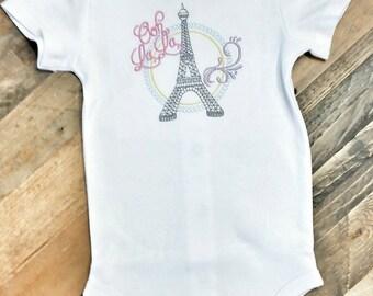 Eiffel Tower Onesie - Paris Baby Gift - French Theme Baby - Parisian Girl Bodysuit - Baby Shower Gift