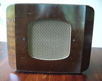 Vintage Speaker ... Richard Allan Major Baflette Speaker ... 1950's Wooden Speaker ... Radio, Gramaphone, Collectable ... Home Decor